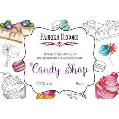 Набор открыток для раскрашивания маркерами Фабрика Декора CANDY SHOP