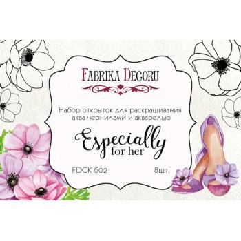 Набор открыток для раскрашивания акварелью Фабрика Декора ESPECIALLY FOR HER