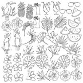 Лист для раскрашивания маркерами Фабрика Декора TROPICAL PARADISE 30х30