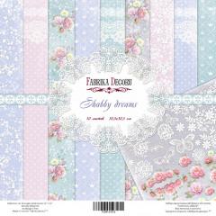 Набор бумаги для скрапбукинга Фабрика Декора SHABBY DREAMS 30х30см