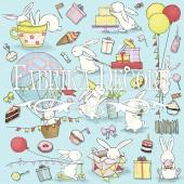 Лист бумаги для скрапбукинга Фабрика Декора BUNNY BIRTHDAY PARTY 30х30см картинки