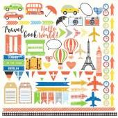 Лист бумаги для скрапбукинга Фабрика Декора EUROPEAN HOLIDAYS 30х30см картинки