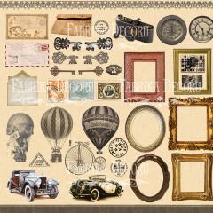 Лист бумаги для скрапбукинга Фабрика Декора SHABBY MEMORY 30х30см картинки