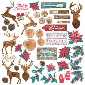 Лист бумаги для скрапбукинга Фабрика Декора CHRISTMAS FAIRYTALES 30х30см картинки