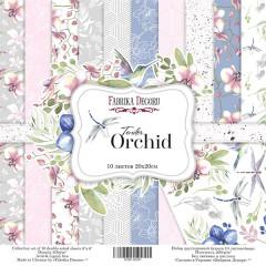 Набор бумаги для скрапбукинга Фабрика Декора TENDER ORCHID 20х20см