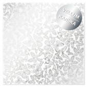 Лист кальки (веллум) с фольгированием Фабрика Декора SILVER BUTTERFLIES 30х30см