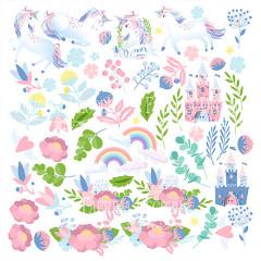 Лист бумаги для скрапбукинга Фабрика Декора BELIEVE IN MIRACLE 30х30см картинки