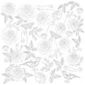 Лист для раскрашивания маркерами Фабрика Декора SENSUAL LOVE 30х30