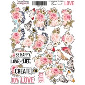 Набор наклеек (стикеров) #001 Фабрика Декора SENSUAL LOVE