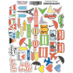Набор наклеек (стикеров) #002 Фабрика Декора EUROPEAN HOLIDAYS