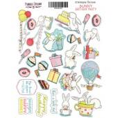 Набор наклеек (стикеров) #019 Фабрика Декора BUNNY BIRTHDAY PARTY