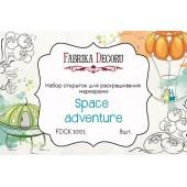 Набор открыток для раскрашивания маркерами Фабрика Декора SPACE ADVENTURE