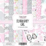 Набор бумаги для скрапбукинга Фабрика Декора SCANDI BABY GIRL 20х20см
