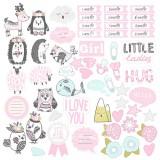 Лист бумаги для скрапбукинга Фабрика Декора SCANDI BABY GIRL 30х30см картинки