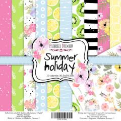 Набор бумаги для скрапбукинга Фабрика Декора SUMMER HOLIDAY 20х20см