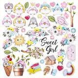 Лист бумаги для скрапбукинга Фабрика Декора MY TINY SPARROW GIRL 30х30см картинки