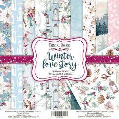 Набор бумаги для скрапбукинга Фабрика Декора WINTER LOVE STORY 30х30см