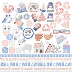 Лист бумаги для скрапбукинга Фабрика Декора HUGE WINTER 30х30см картинки