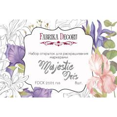 Набор открыток для раскрашивания маркерами Фабрика Декора MAJESTIC IRIS