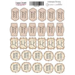 Набор наклеек (стикеров) #027 Фабрика Декора СДЕЛАНО С ЛЮБОВЬЮ