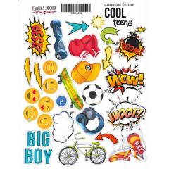 Набор наклеек (стикеров) #052 Фабрика Декора COOL TEENS