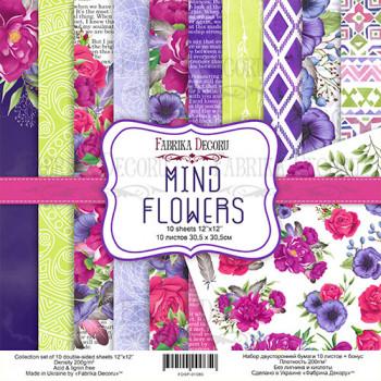 Набор бумаги для скрапбукинга Фабрика Декора MIND FLOWERS 30х30см