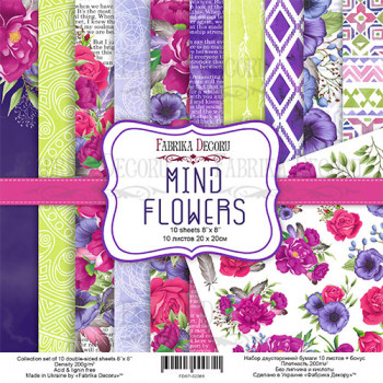 Набор бумаги для скрапбукинга Фабрика Декора MIND FLOWERS 20х20см