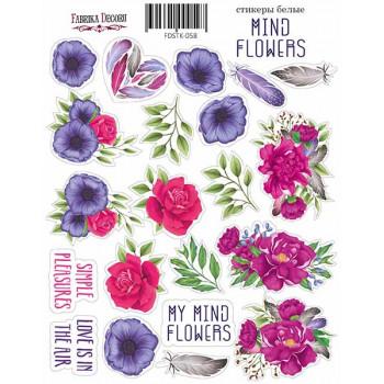 Набор наклеек (стикеров) #059 Фабрика Декора MIND FLOWERS-1