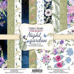 Набор бумаги для скрапбукинга Фабрика Декора NIGHT GARDEN 30х30см