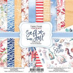 Набор бумаги для скрапбукинга Фабрика Декора SEA SOUL 20х20см