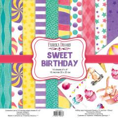 Набор бумаги для скрапбукинга Фабрика Декора SWEET BIRTHDAY 20х20см