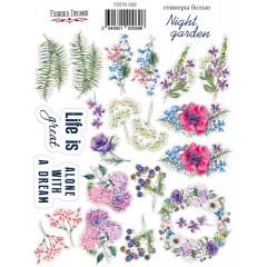 Набор наклеек (стикеров) #069 Фабрика Декора NIGHT GARDEN