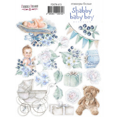 Набор наклеек (стикеров) #072 Фабрика Декора SHABBY BABY BOY REDESIGN
