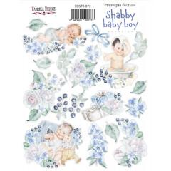 Набор наклеек (стикеров) #073 Фабрика Декора SHABBY BABY BOY REDESIGN 1