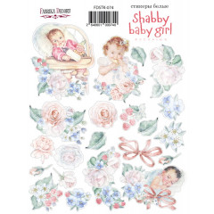 Набор наклеек (стикеров) #074 Фабрика Декора SHABBY BABY GIRL REDESIGN