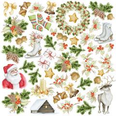 Лист бумаги для скрапбукинга Фабрика Декора AWAITING CHRISTMAS 30х30см картинки