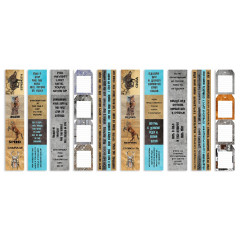 Набор полос с карточками для декорирования Фабрика Декора GRUNGE&MECHANICS
