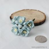Цветы бумажные мальбери ЦВЕТЫ ВИШНИ ГОЛУБЫЕ 2,5см 5шт