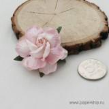 Цветы бумажные мальбери РОЗЫ ЧАЙНЫЕ БЕЛО-РОЗОВЫЕ 5см 1шт