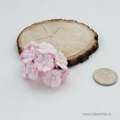 Цветы бумажные мальбери МАЛЕНЬКИЕ НЕЖНО-РОЗОВЫЕ 2см 10шт
