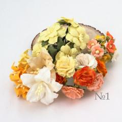 Цветы бумажные мальбери НАБОР #1