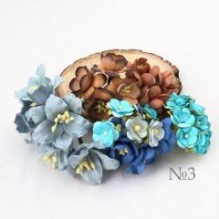 Цветы бумажные мальбери НАБОР #3