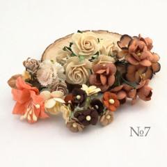 Цветы бумажные мальбери НАБОР #7