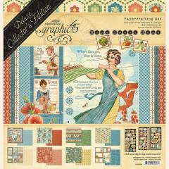 Набор бумаги для скрапбукинга Graphic 45 HOME SWEET HOME Deluxe Collector's Edition 30x30см