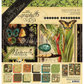 Набор бумаги для скрапбукинга Graphic 45 NATURE NOTEBOOK Deluxe Collector's Edition 30x30см