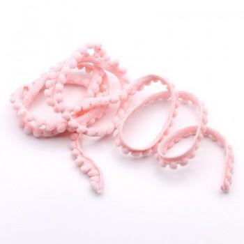 Тесьма декоративная с помпонами BLITZ 10мм светло-розовый (на отрез)