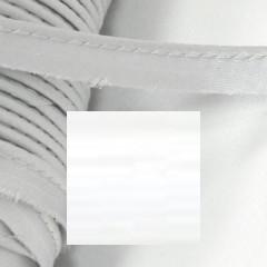Кант атласный с вшитым шнуром Gamma 10мм БЕЛЫЙ (на отрез)