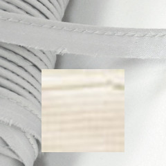 Кант атласный с вшитым шнуром Gamma 10мм БЕЖЕВЫЙ (на отрез)