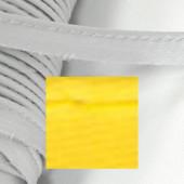 Кант атласный с вшитым шнуром Gamma 10мм ЖЕЛТЫЙ (на отрез)