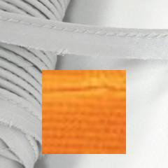 Кант атласный с вшитым шнуром Gamma 10мм ОРАНЖЕВЫЙ (на отрез)